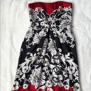 White House Black Market Print silk dress